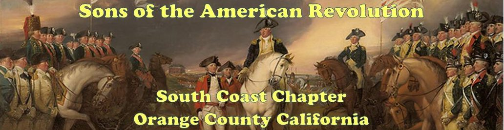 Sons of the American Revolution - South Coast Chapter